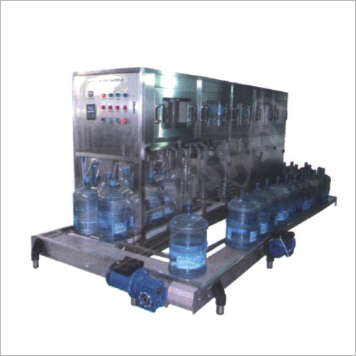 Automatic 5-20 Ltr Jar Rinsing Filling And Capping Machine
