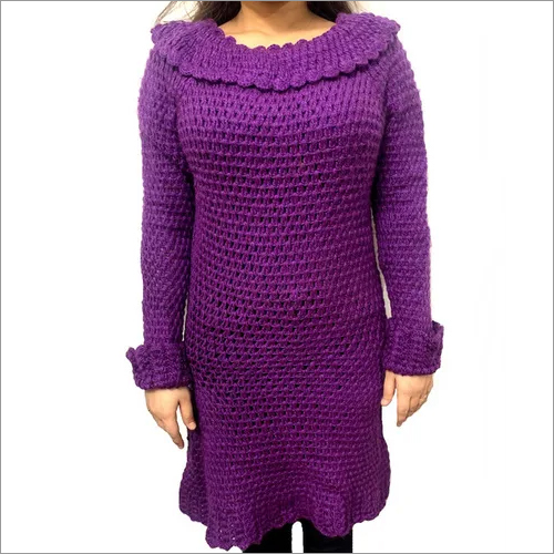 Purple Hand-Knitted Sweater