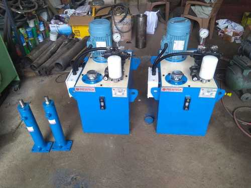 hydraulic power pack with cylinder