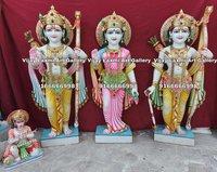 Marble Ram Darbar Statue with Hanuman Ji