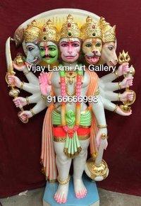 Decorative Marble Panchmukhi Hanuman Statue