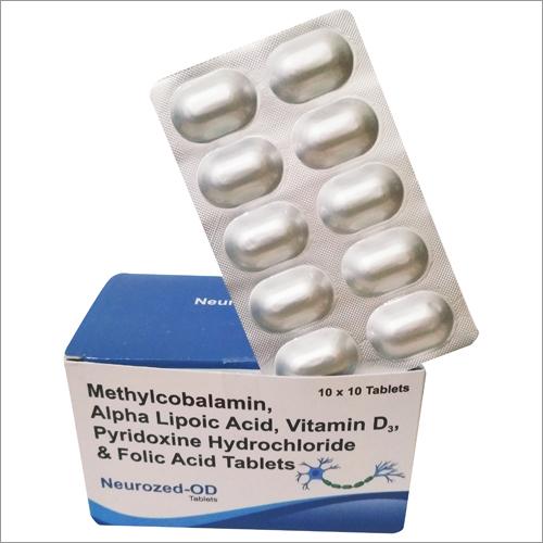 Methylcobalamin  1500mcg Alpha Lipoic Acid  Vitamin D3 Pyridoxine Antioxidants, Multivitamin & Multi mineral Tablet