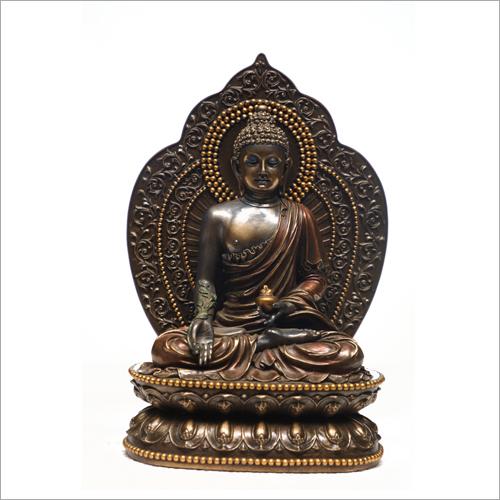 Ceramic Gold Plated Buddha Statue