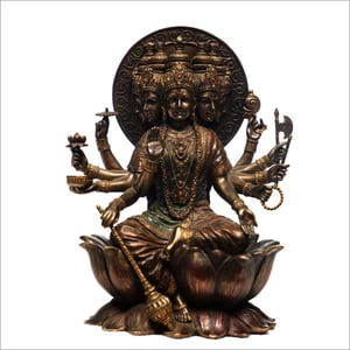Ceramic Gold Plated Brahma Statue