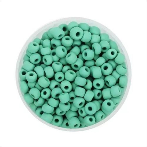 Opaque Green Glass Beads