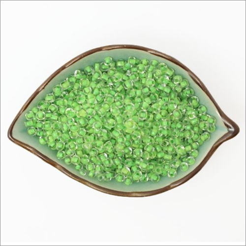 Inside Green Round Glass Seed Beads