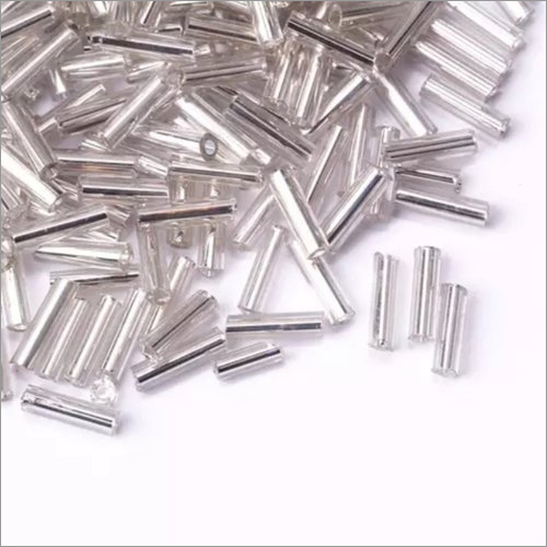 Silver Line Bugle Glass Beads