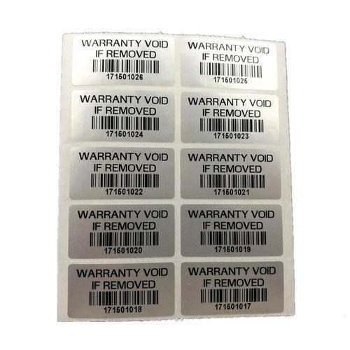 Warranty Valid Barcode Labels