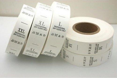 Plain White Taffeta Labels