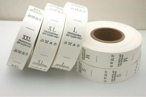 Plain White Taffeta Labels