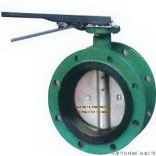 Manual flanged butterfly valve