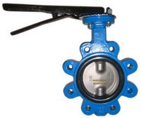 Manual wafer Soft Seal Butterfly Valve