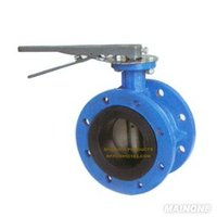 Rubber lined flange corrosion resistant butterfly valve