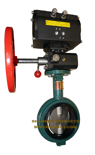 Pneumatic wafer metal sealing butterfly valve