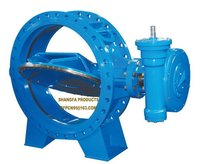 Manual flanged type metal sealing butterfly valve