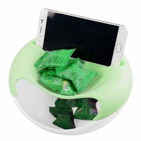 Serving Bowl With Mobile Phone Holder (Multi Color)
