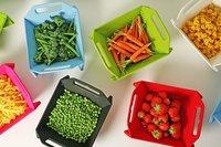 Kitchen Tools - 3 in 1 Fruit & Vegetable Chopping Board Wash Folding Basket