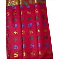 Ladies Red Swastik Handloom Sarees