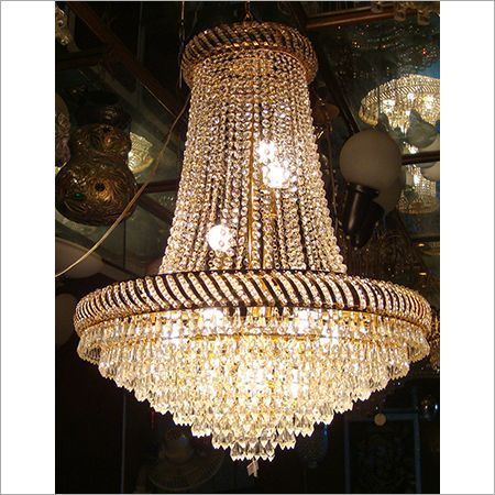 Golden Crystal Glass Antique Chandeliers