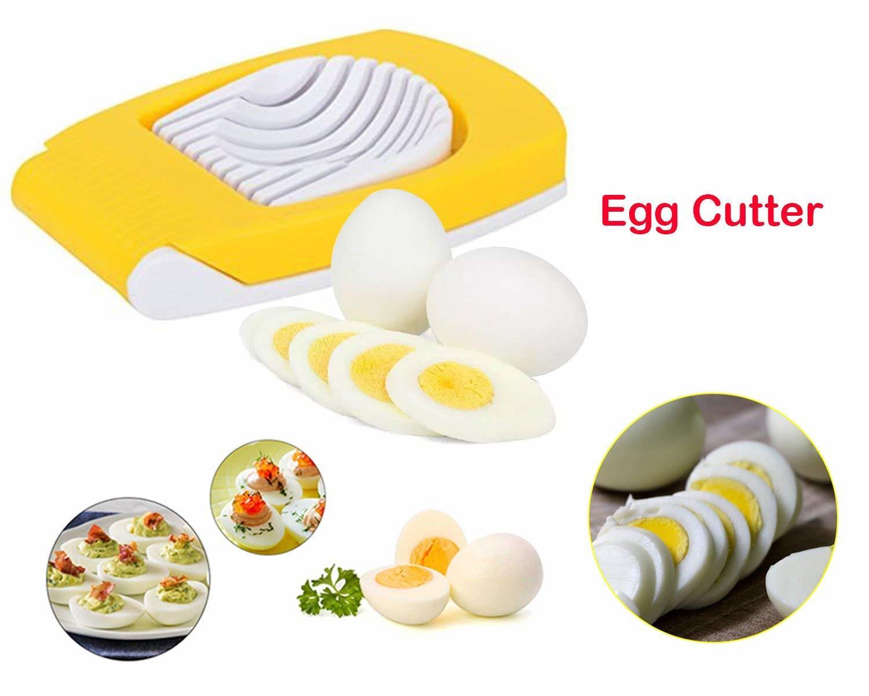 Egg Cutter, Egg Slicer, Boiled Eggs Cutter, Stainless Steel Cutting Wires, Multi Purpose Slicer | Egg Cutter for Hard Boiled Eggs | Egg Cutter Slicer