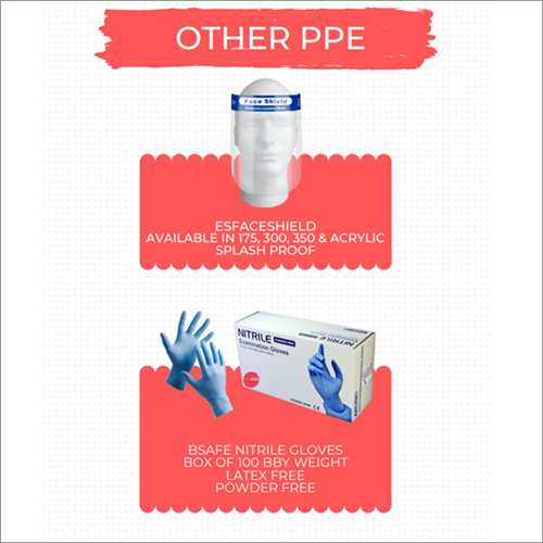 Faceshield and Nitrile Gloves