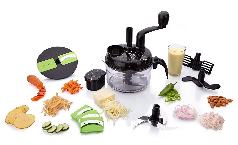 7 in 1 Manual Food Processor (Black)