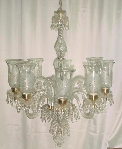 Transparent Clear Glass Cutting Chandeliers