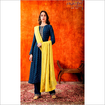 Blue Mtr 4327 Ladies Designer Pant Suit At Price Range 900 00 5000 00 Inr Piece In Ahmedabad Id C6322257