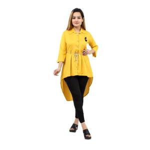 Ladies Yellow Middy Dress