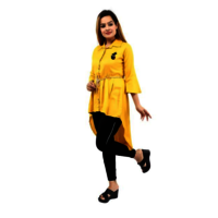 Ladies Yellow Middy Dress
