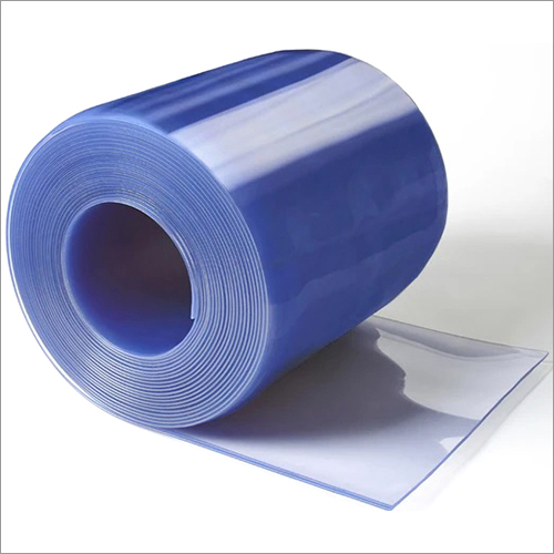 Clear Blue PVC Strip Curtain Roll