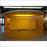 Yellow Transparent PVC Strip Curtain