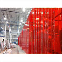 Red PVC Strip Curtain