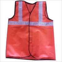 Polyester PVC White Reflective Tape Safety Jacket