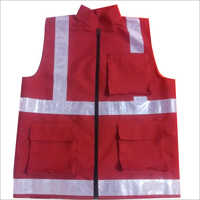 Polyester Four Pocket Safety Jacket