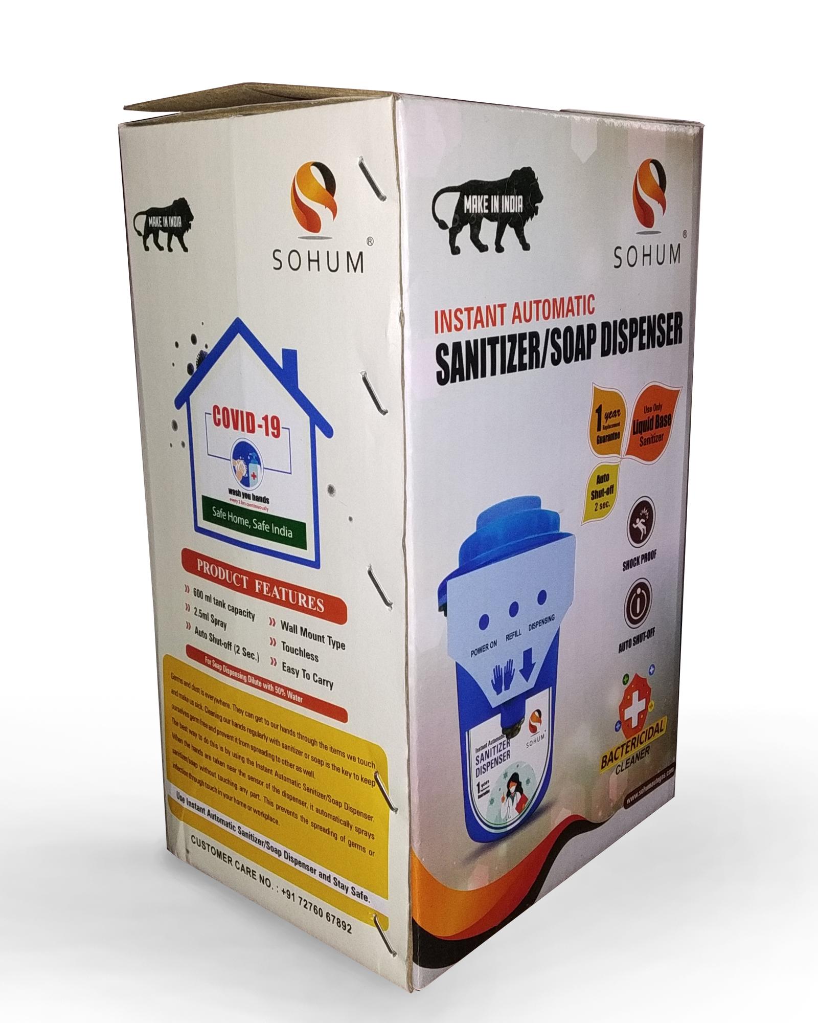 SOHUM Instant Automatic Sanitizer And Soap Dispenser.