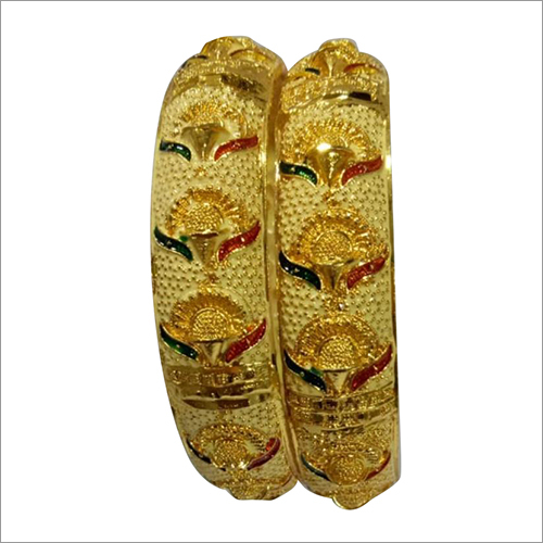 Gold Plated Artificial Fancy Bangle Set