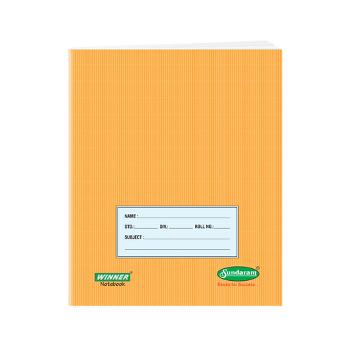 76 Pages Brown Note Book (Medium Square)