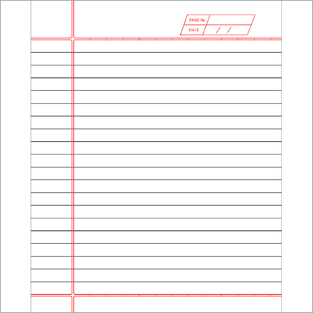 380 Pages Note Book (One Line)