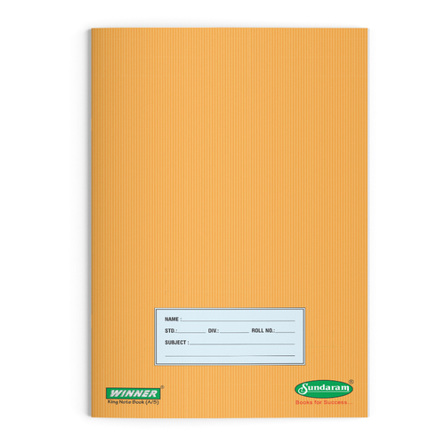 Sundaram Winner King Note Book (Unrulled) - 76 Pages(E-14M)