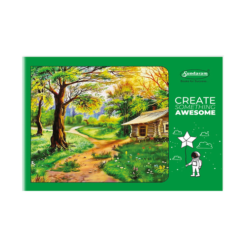 Sundaram Drawing Book - 4A (Green) - 36 Pages (D-5)