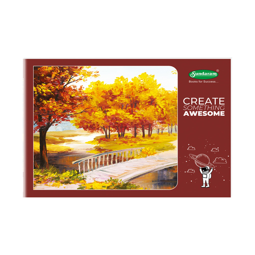 Sundaram Drawing Book - 4A Jumbo (Brown) - 36 Pages (D-6)