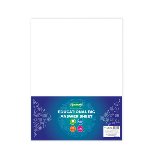 Sundaram Answer Sheet (Unrulled) - 240 Folds (AP-2)