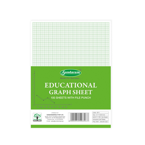 Sundaram Graph Sheets - 100 Sheets (GP-1)