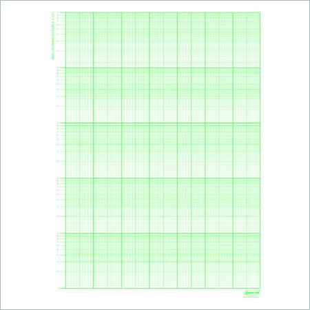100 Sheets Semi Log Graph Sheets