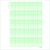 100 Sheets Semi Log Graph Sheets