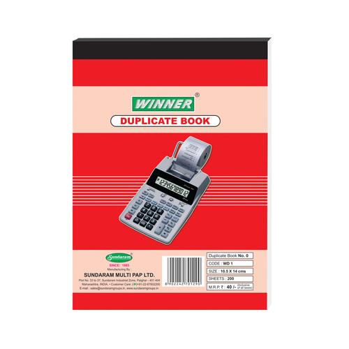 Sundaram Winner Duplicate Book - 0 No. (WD-1)