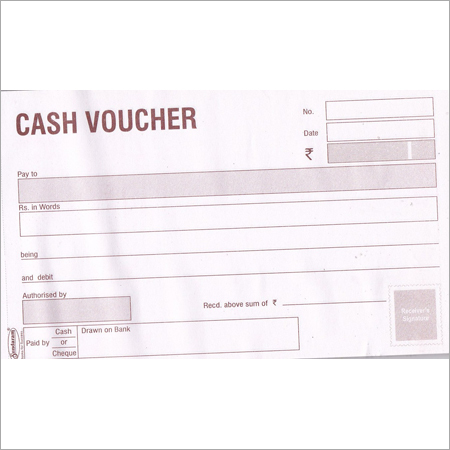 50 Sheets Cash Voucher Book