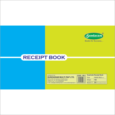 50 Sets Duplicate Receipt Book