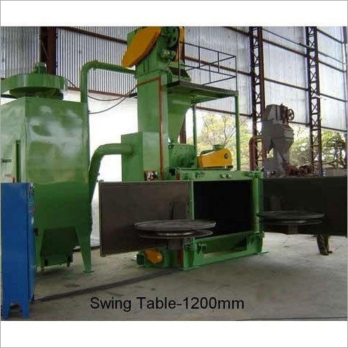 1200 mm Swing Table Shot Blasting Machine